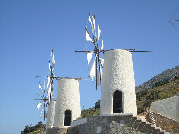 Moinhos encantadores - ilha de Creta