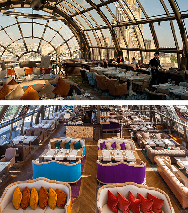 Restaurantes mais surpreendentes do mundo - vista de 180 graus sobre a cidade de Moscovo