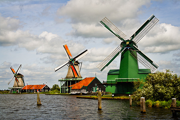 Moinhos encantadores - Zaanse Schans, Holanda