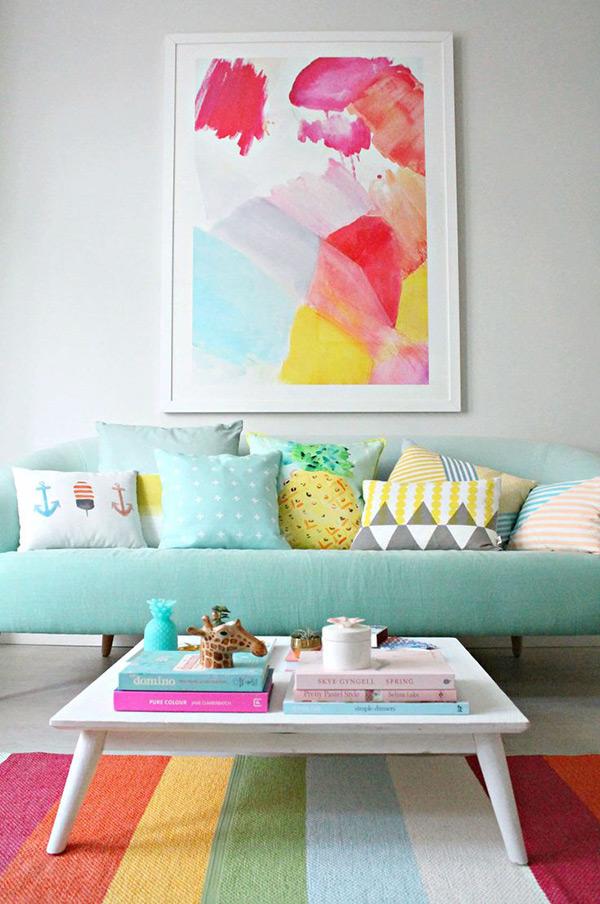 Decoração com cores - intensidade das cores