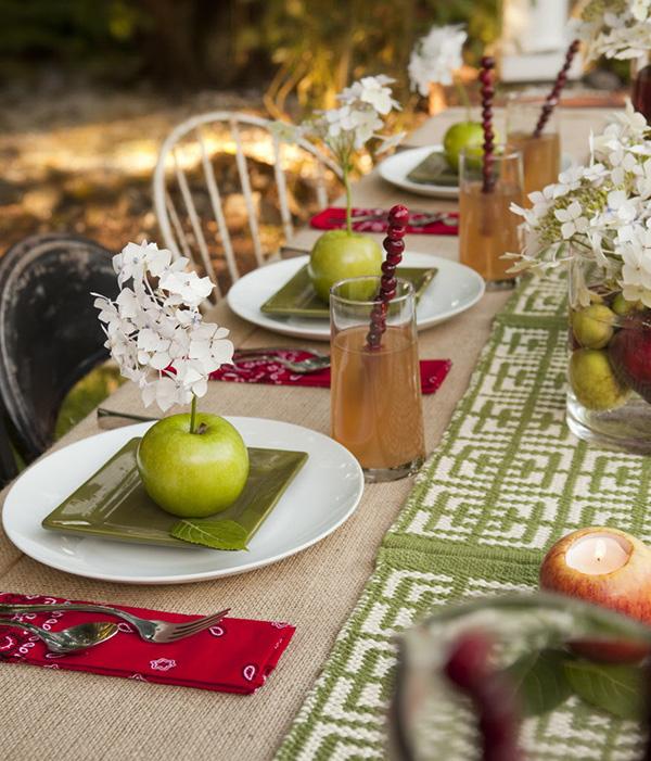Decoração de Outono, dicas úteis - na mesa de jantar opte por tons de Outono