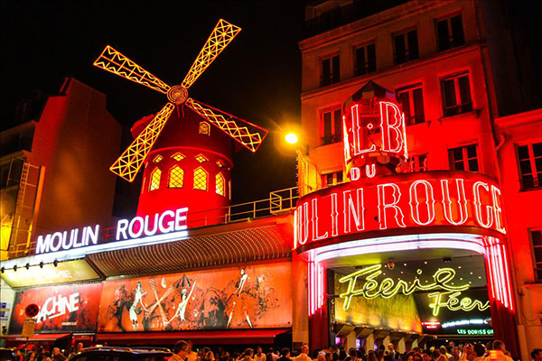 Moinhos encantadores - Moulin Rouge, Paris