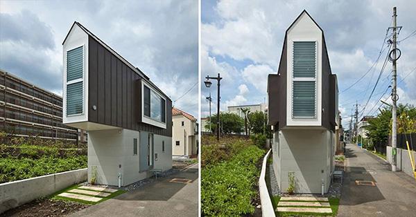 Casas que o vão deixar de boca aberta - uma das casas mais estreitas do mundo