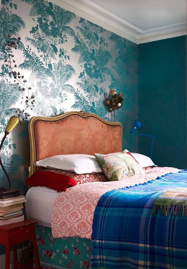 Decoração com mantas e almofadas - cama