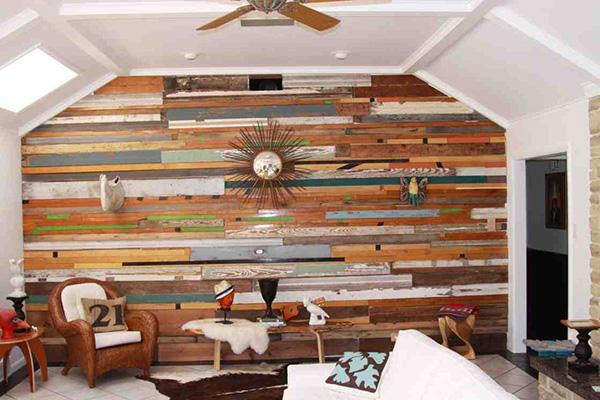 Embelezar as paredes de sua casa - madeira
