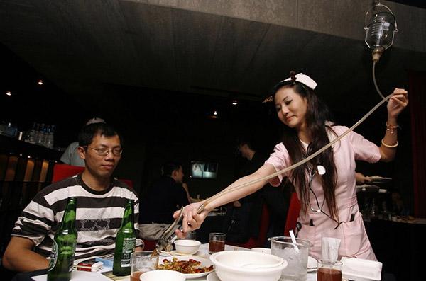 Restaurantes mais surpreendentes do mundo - em Taipei, um restaurante que parece um hospital