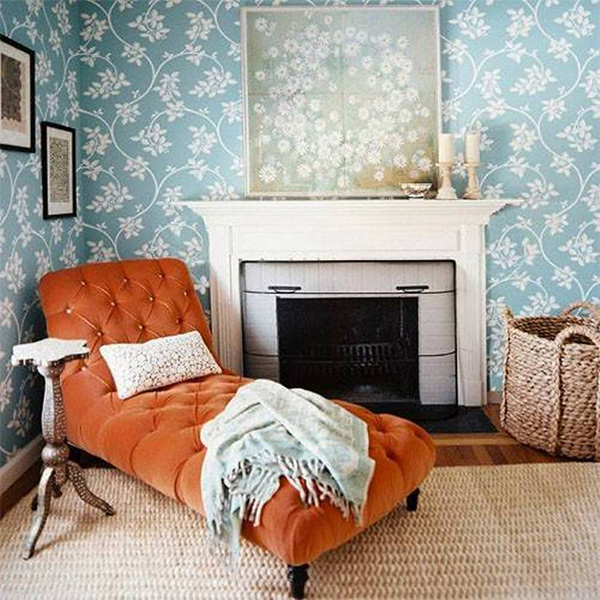 Sugestões de decoração: chaises longues - chaise longue junto à lareira