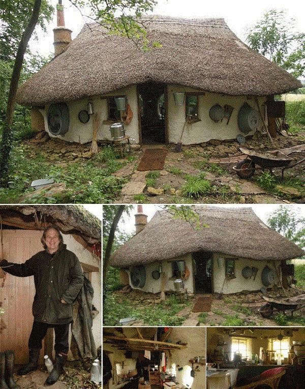Casas que o vão deixar de boca aberta - casa Hobbit
