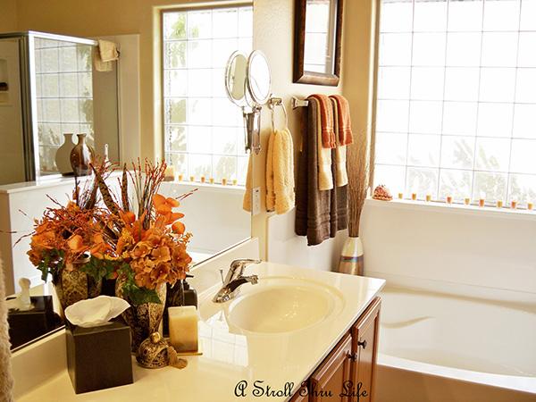 Decoração de Outono, dicas úteis - na casa de banho opte por atoalhados mais escuros