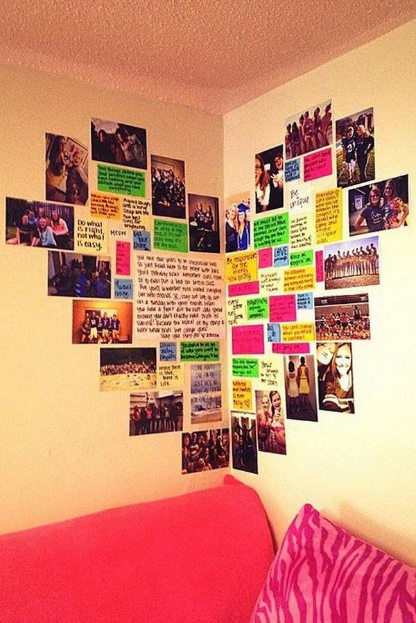 Embelezar as paredes de sua casa - fotografias coladas diretamente na parede