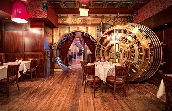 Restaurantes mais surpreendentes do mundo - restaurante cofre blindado, Nova Iorque