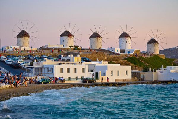 Moinhos encantadores - Mykonos, Grécia