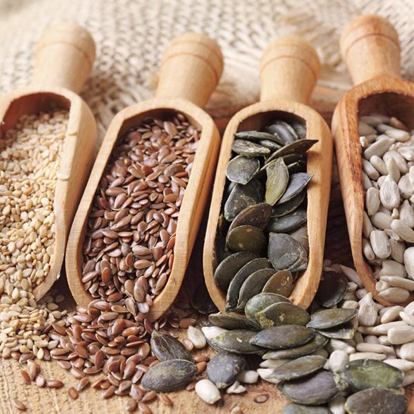 Alternativas saudáveis à carne - LINHAÇA, SEMENTES DE ABÓBORA ou de GIRASSOL