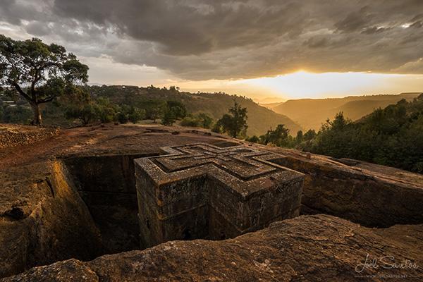 As mais belas igrejas do mundo - Igreja de Bieta Giorgis - Lalibela, Etiópia