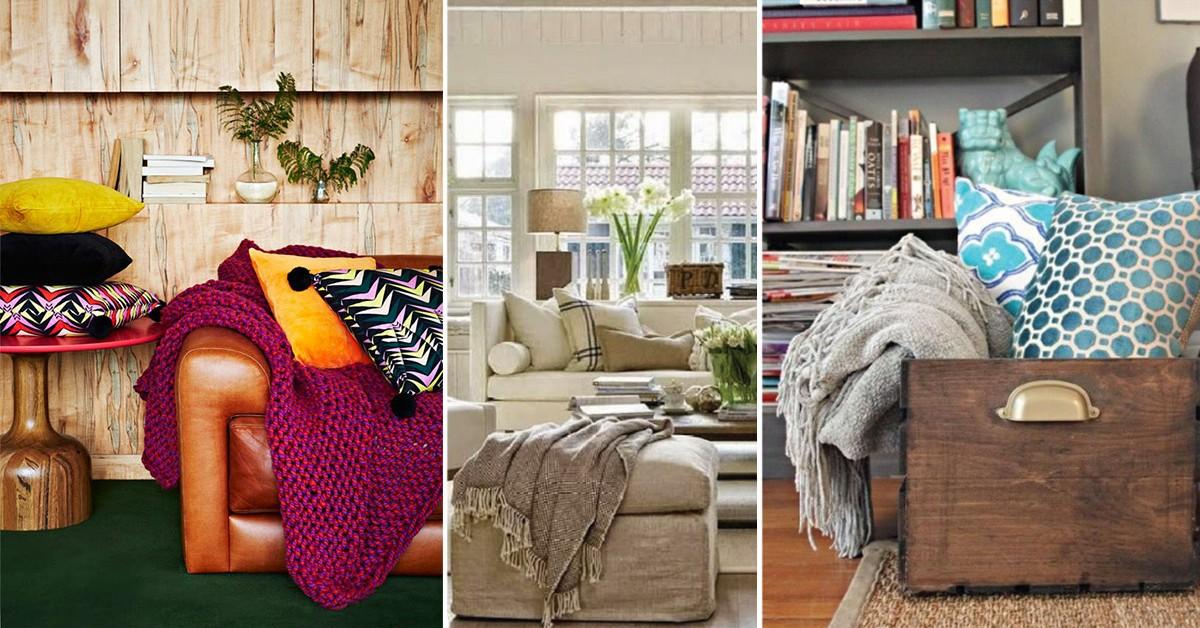Mantas e almofadas – 19 ideias de decoração