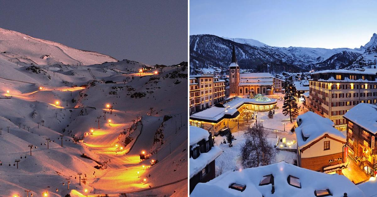 8 destinos de neve muito românticos