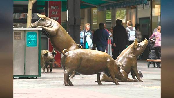 Estas estátuas são obra - Austrália