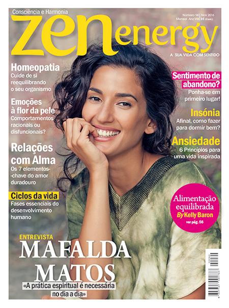 Capa da revista Zen Energy de Novembro 2016