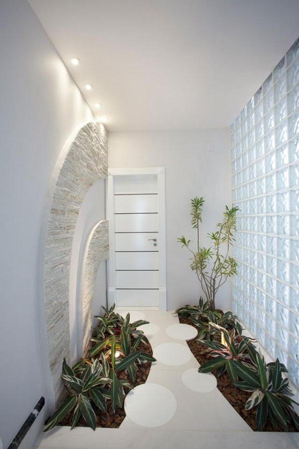 Jardins interiores - corredores