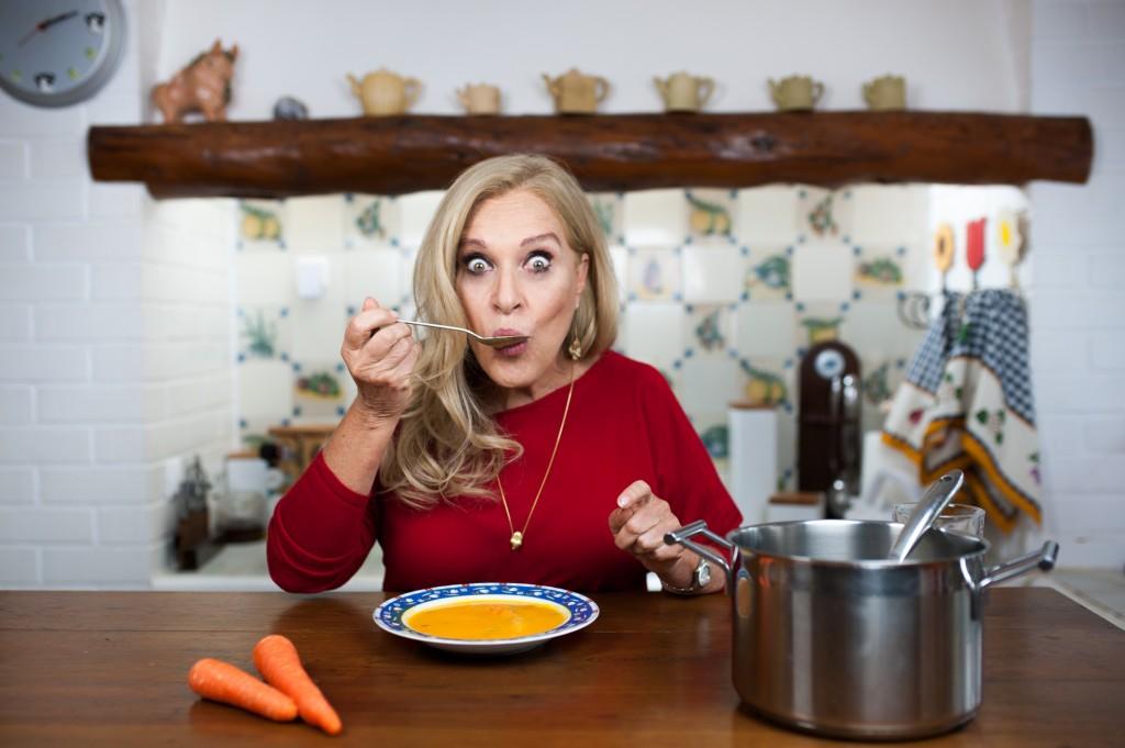 Sopa de Cenoura e Espinafres (para 6 pessoas) - E para todo o ano!