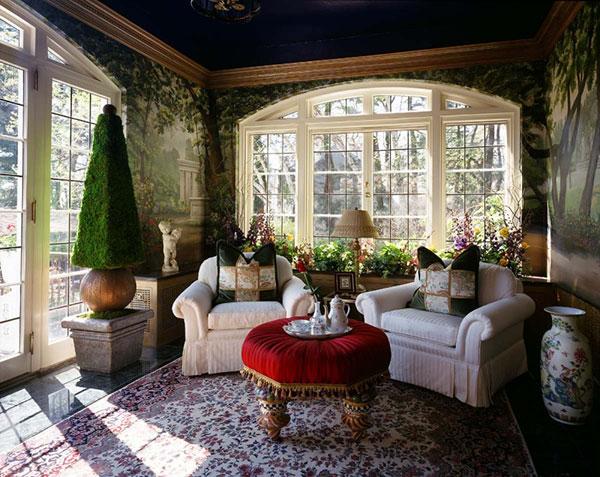 Jardins interiores - jardim de inverno clássico