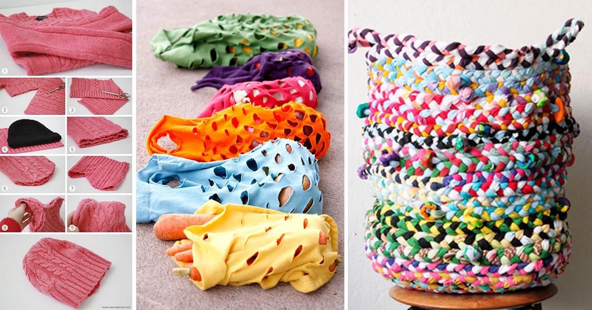 Dê uma nova vida às roupas velhas – 10 ideias sem custos