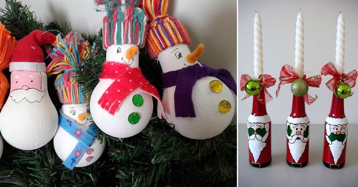 8 decorações de Natal para fazer em família