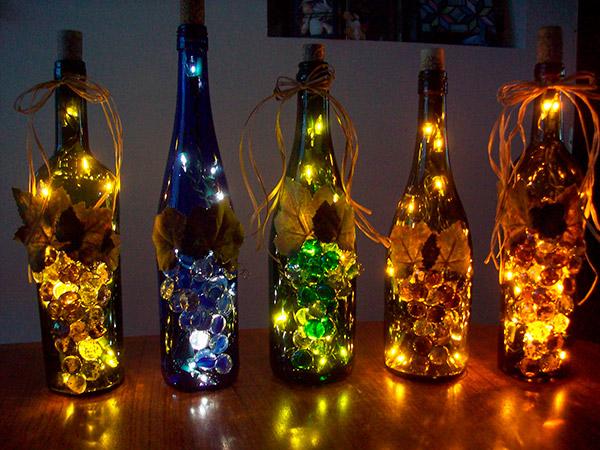 Decorações de Natal para fazer em família - garrafas