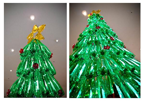 Árvores de Natal diferentes - 8 sugestões ecológicas - Com garrafas de plástico