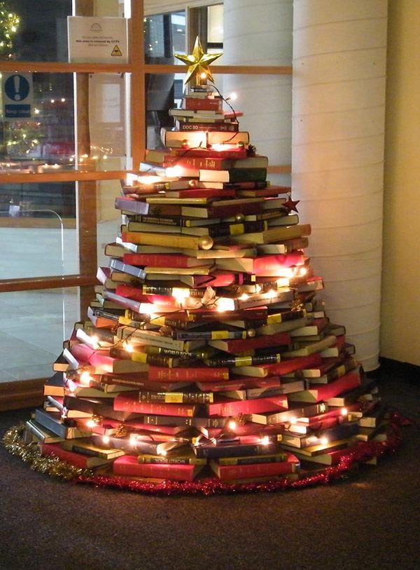 Árvores de Natal diferentes - 8 sugestões ecológicas - Com livros