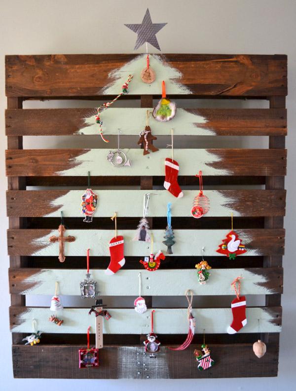 Árvores de Natal diferentes - 8 sugestões ecológicas - Com paletes