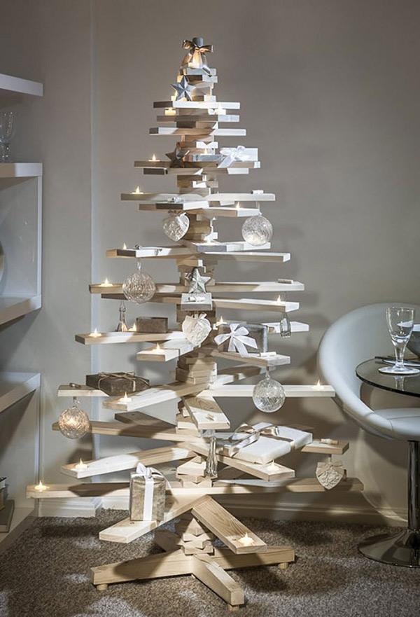 Árvores de Natal diferentes - 8 sugestões ecológicas - Com tábuas de madeira