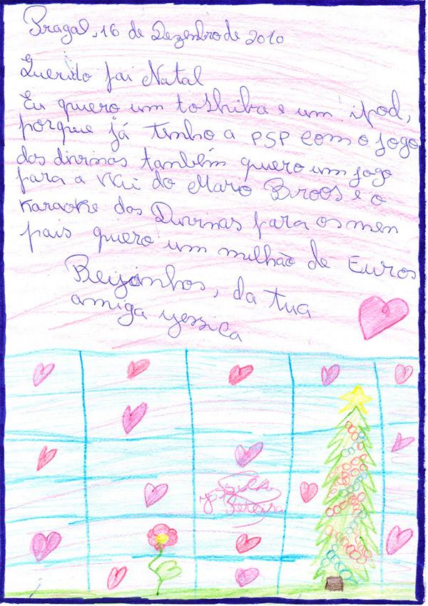 Cartas para o Pai Natal cómicas e ternurentas- Um rico pedido