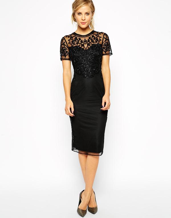 5 looks elegantes para receber o novo ano - Vestido clássico preto