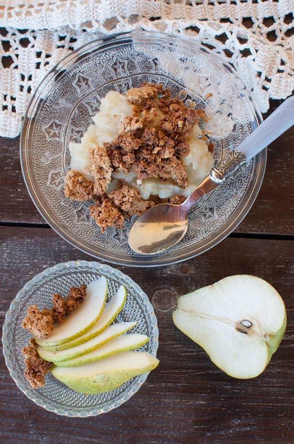 Crumble de pera - Uma sobremesa para todos