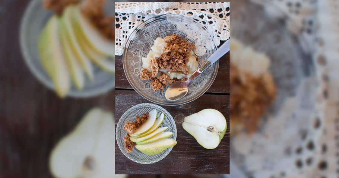 Crumble de pera  – Uma sobremesa para todos
