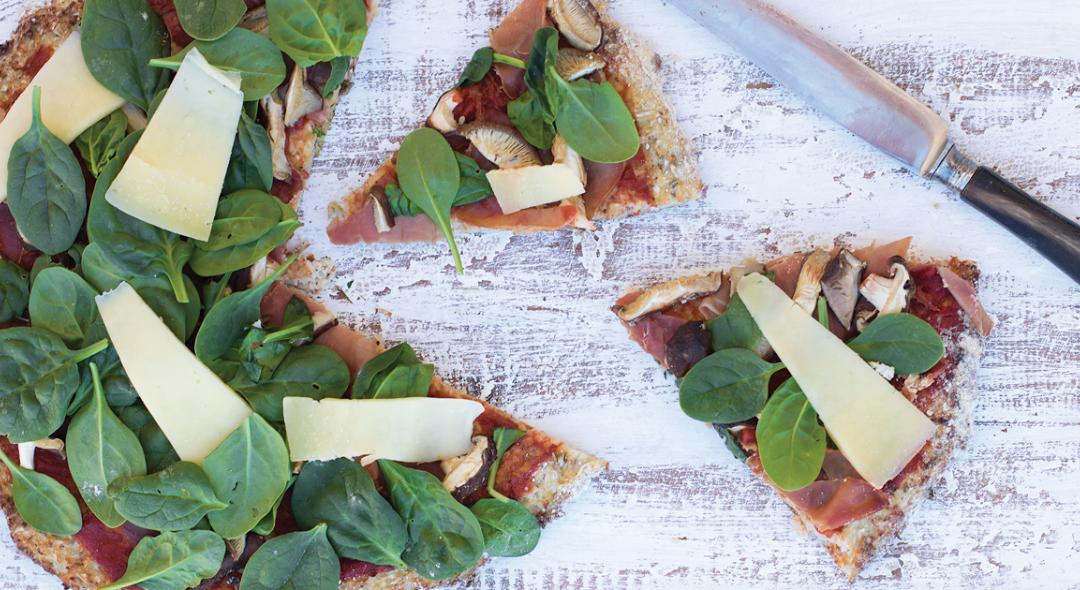 Conheça a receita de uma piza saudável