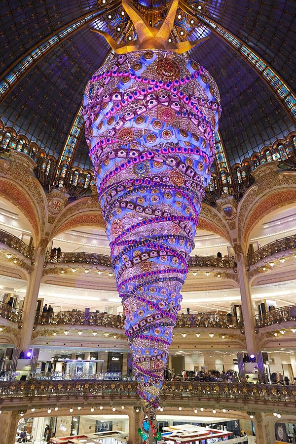 As árvores de Natal mais espectaculares do mundo- Galerias Lafayette
