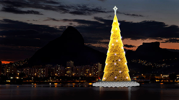 As árvores de Natal mais espectaculares do mundo- Lagoa Brasil