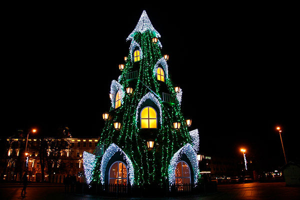 As árvores de Natal mais espectaculares do mundo- Lituânia