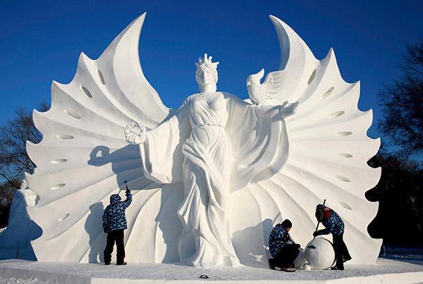 As mais impressionantes esculturas de gelo do mundo – neve China