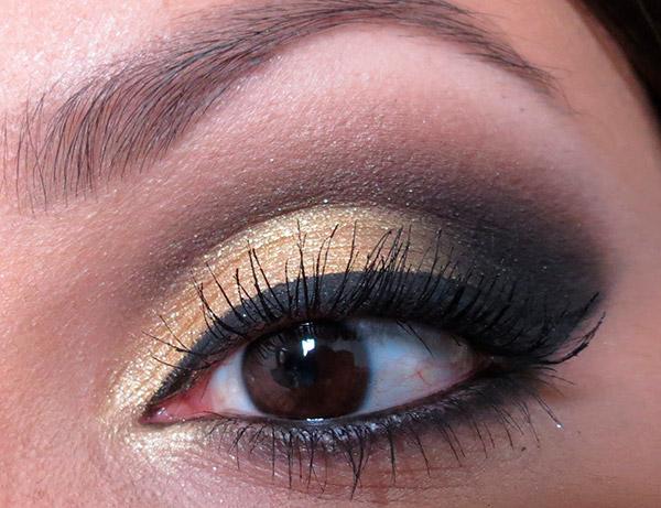 Descubra as cores de maquilhagem obrigatórias este Inverno – sombra dourada