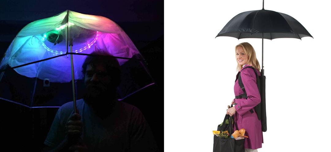 8 guarda-chuvas práticos e divertidos