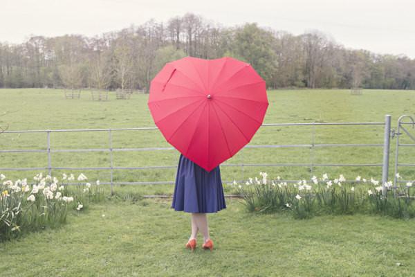 8 guarda-chuvas práticos e divertidos - Em forma de coração