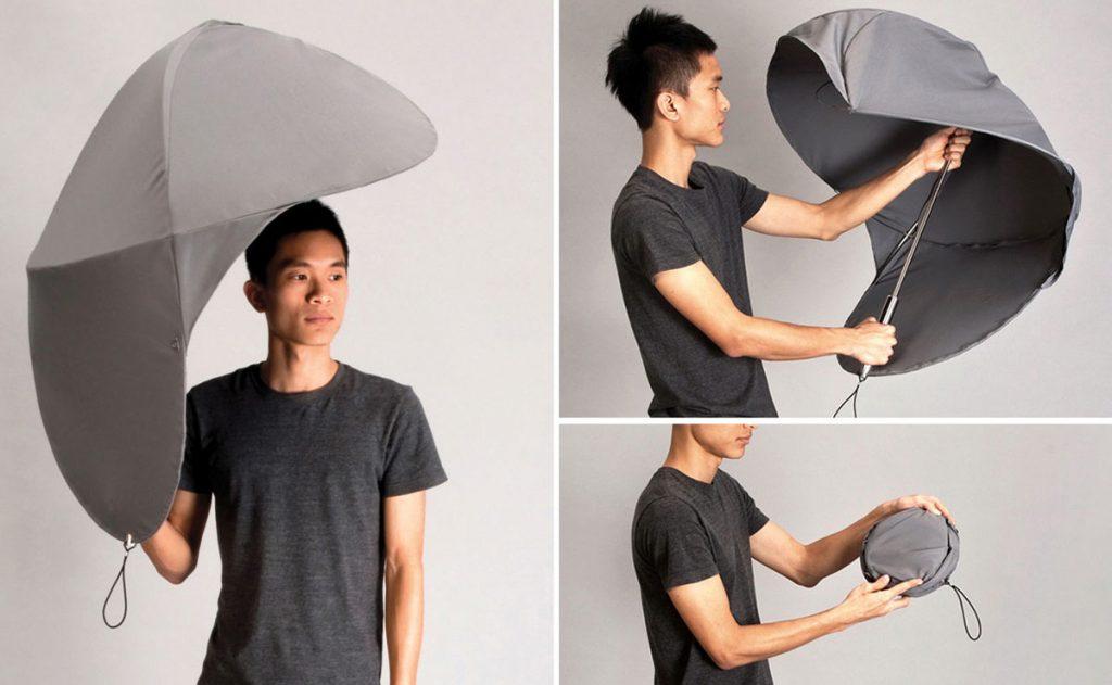 8 guarda-chuvas práticos e divertidos - Ideal para quem gostar de ter as mãos livres