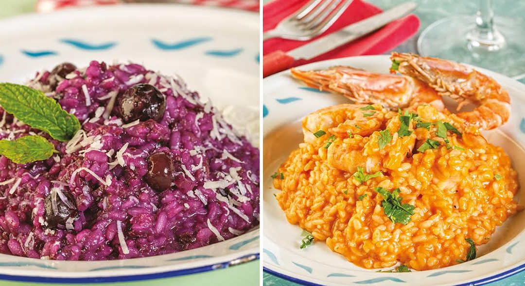 2 risottos simples e requintados por Chiara Ferro