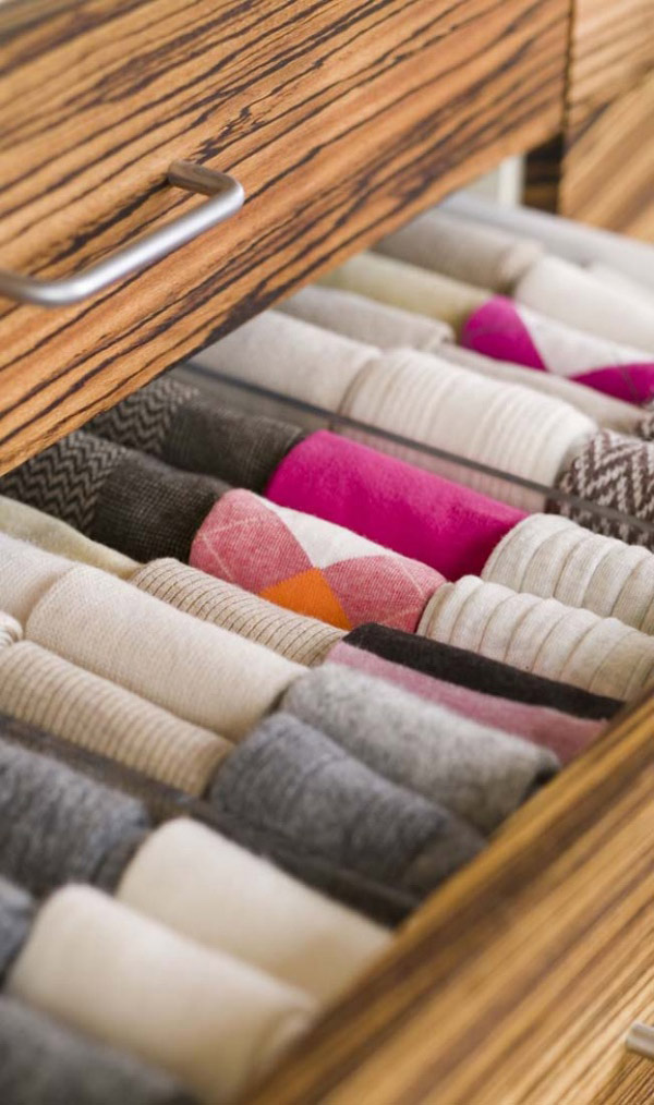 7 dicas para nunca mais perder as suas meias - Organize-as nas suas gavetas