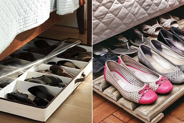9 sapateiras para todos os gostos e carteiras - Sacote de arrumos e palete de madeira