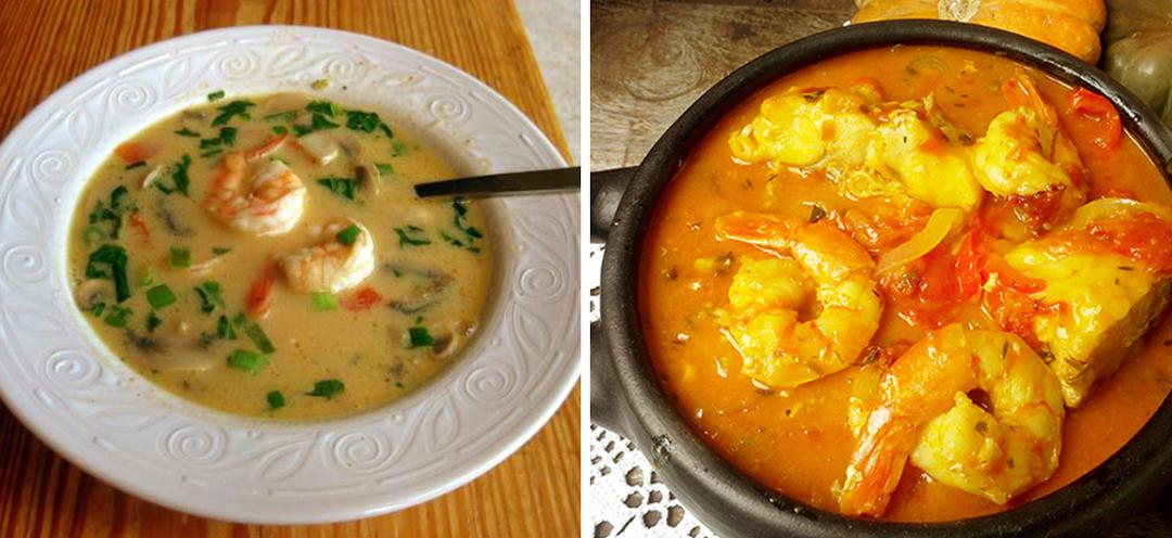 Sopa de peixe com coentros para 6 pessoas