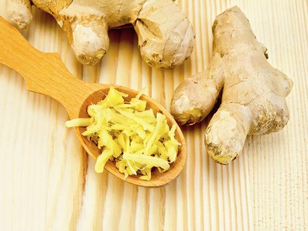 10 Alimentos que ajudam a secar a barriga - Gengibre